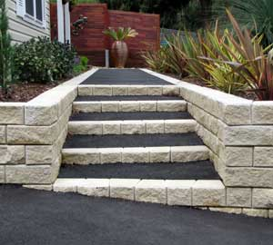 asphalt steps paving